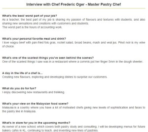 Yumlist Interview with Chef Frederic Oger2